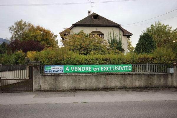 banderole pour vente immobilière